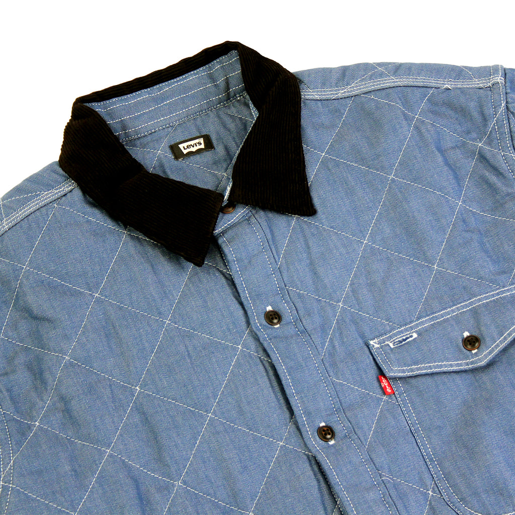 Levi's Skateboarding Collection Quilted Mason 2 Shirt in Chambray - Detail