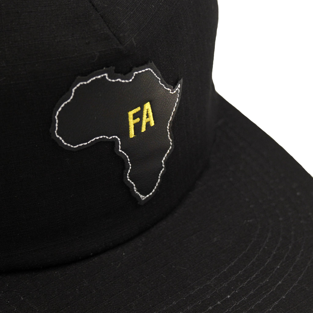 Fucking Awesome Africa Cap in Black - Leather patch