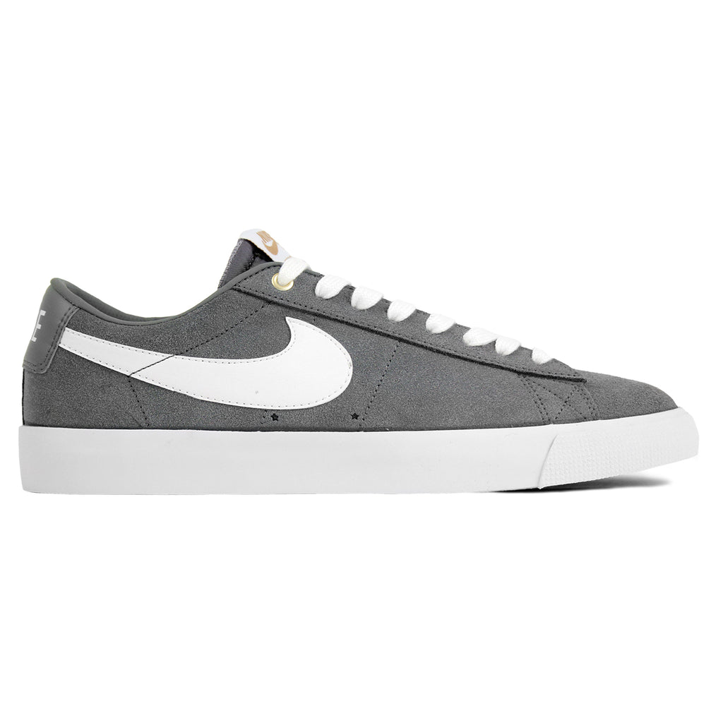 Nike SB Blazer Low Grant Taylor Shoes in Cool Grey / White / Tide Pool Blue