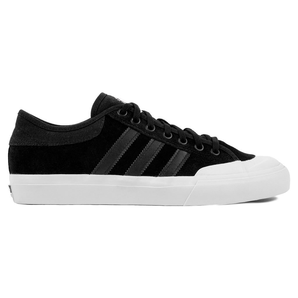 Adidas Skateboarding Matchcourt Shoes in Core Black / Core Black / FTW White
