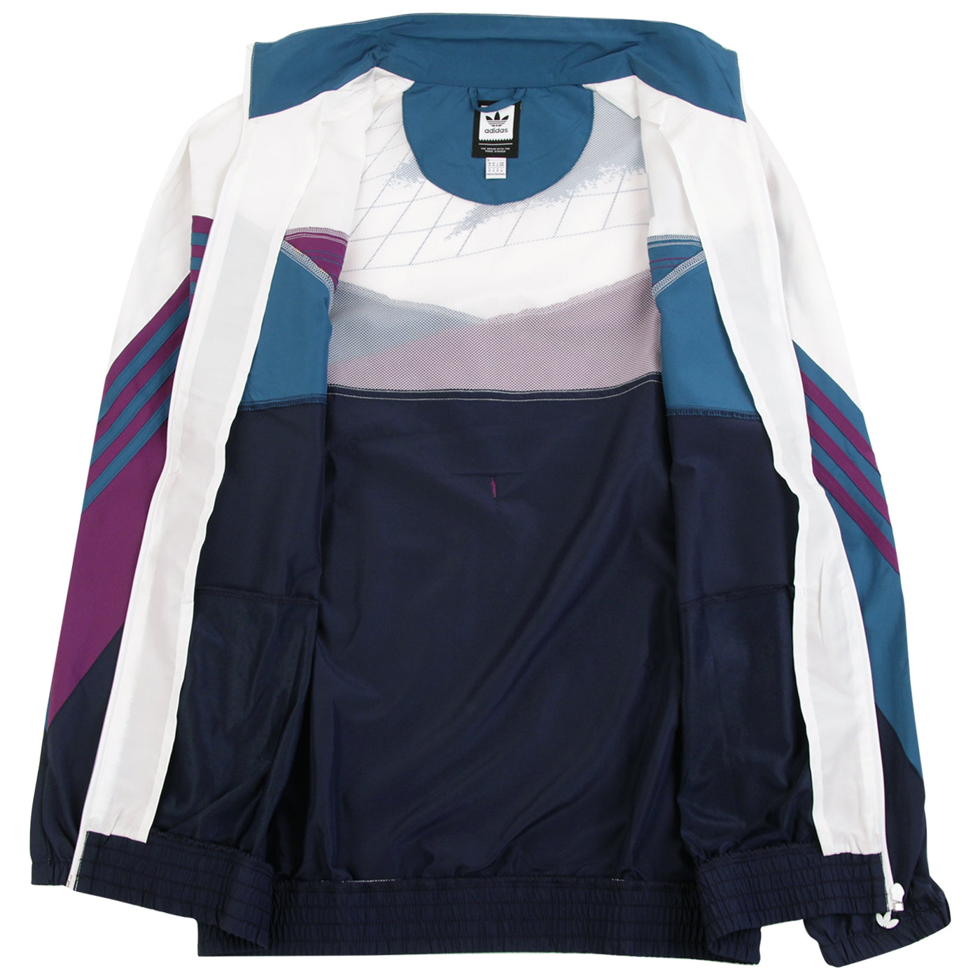 6078f905957 The Court Jacket in White / Collegiate Navy / Tribe Purple / Real ...