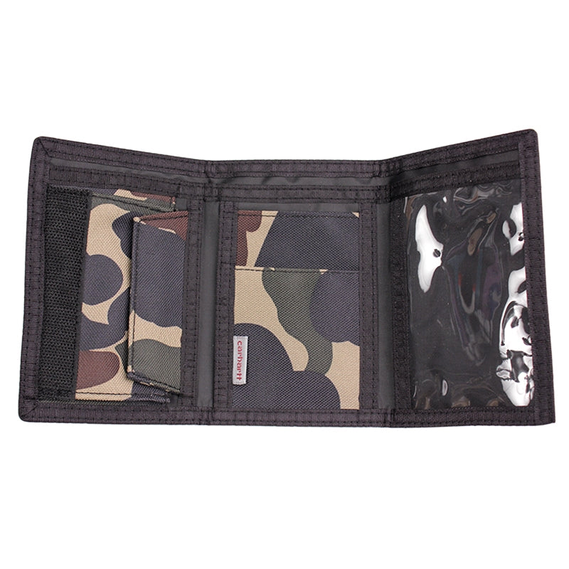 Carhartt Wallet in Camo Isle - Open
