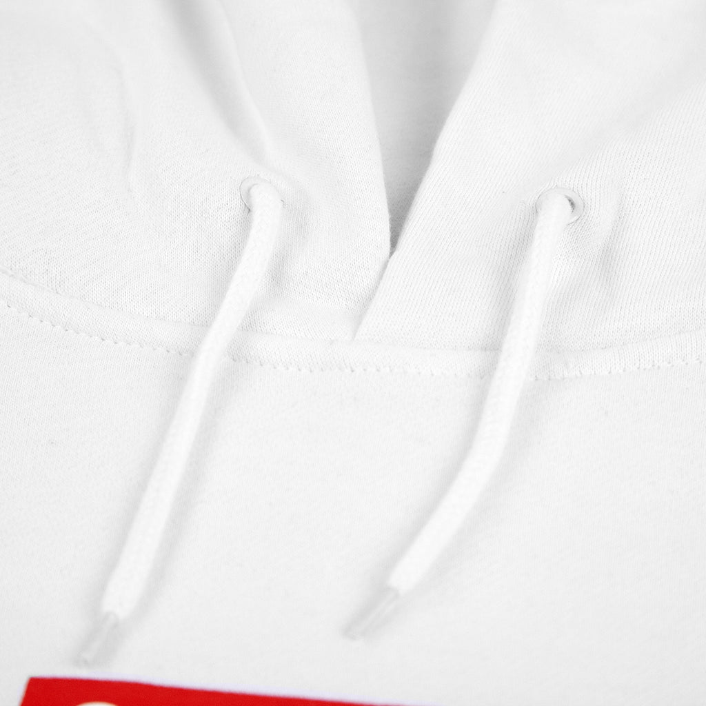 "Bored of Southsea ""Southsea"" Hoodie in White / Red Box - Drawstring"