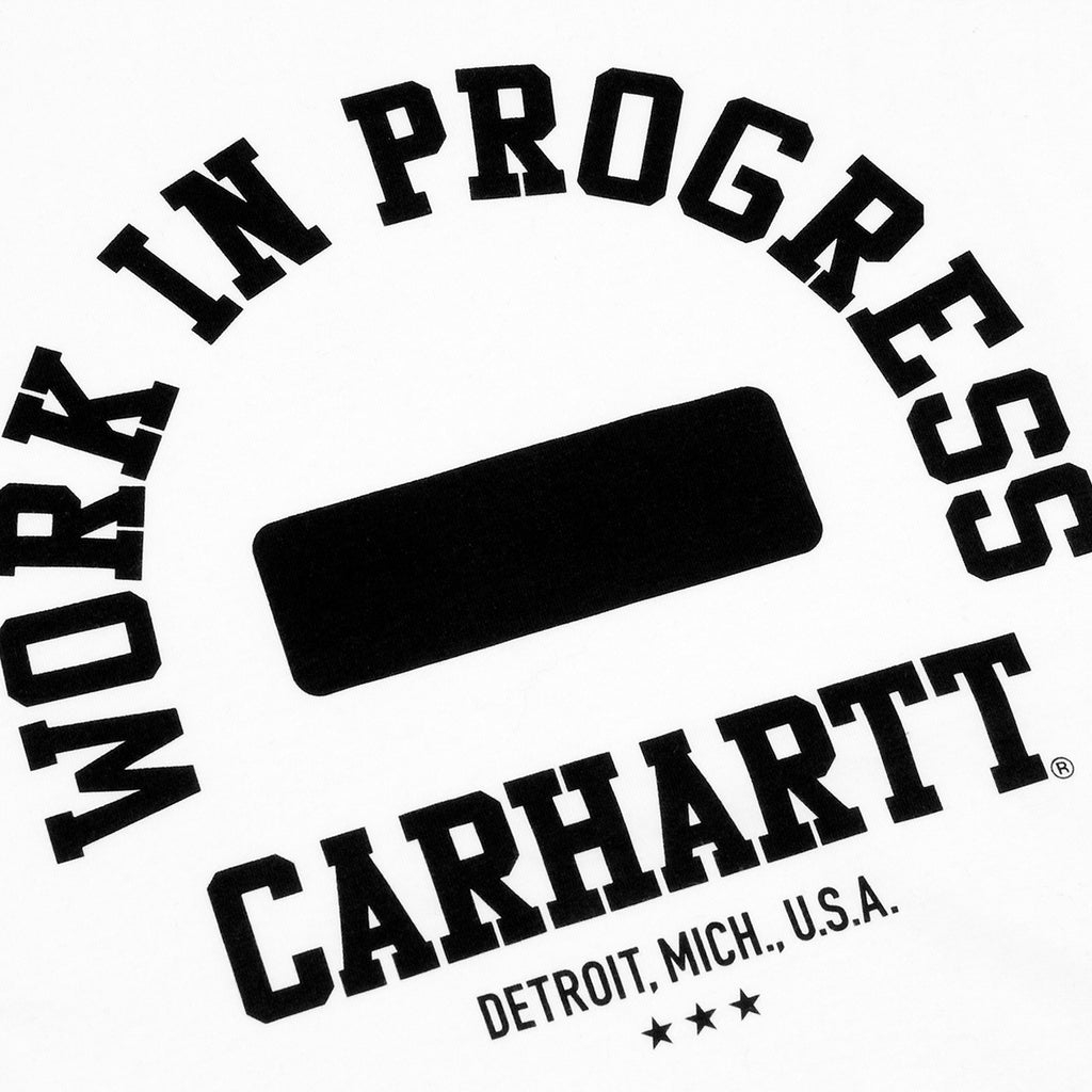 Carhartt Campus T Shirt in White / Black - Print