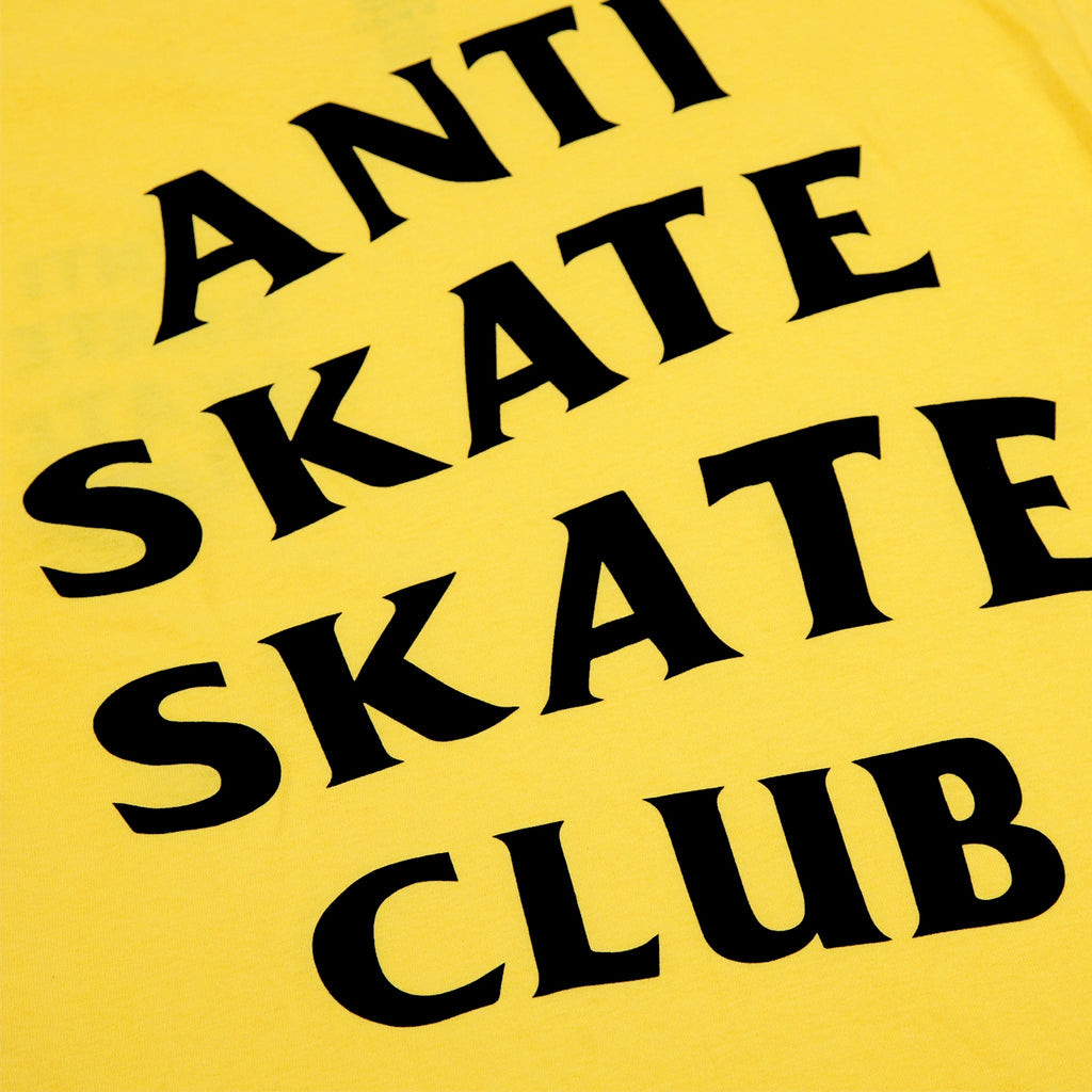 Bored of Southsea Anti Skate Club T Shirt in Yellow - Print
