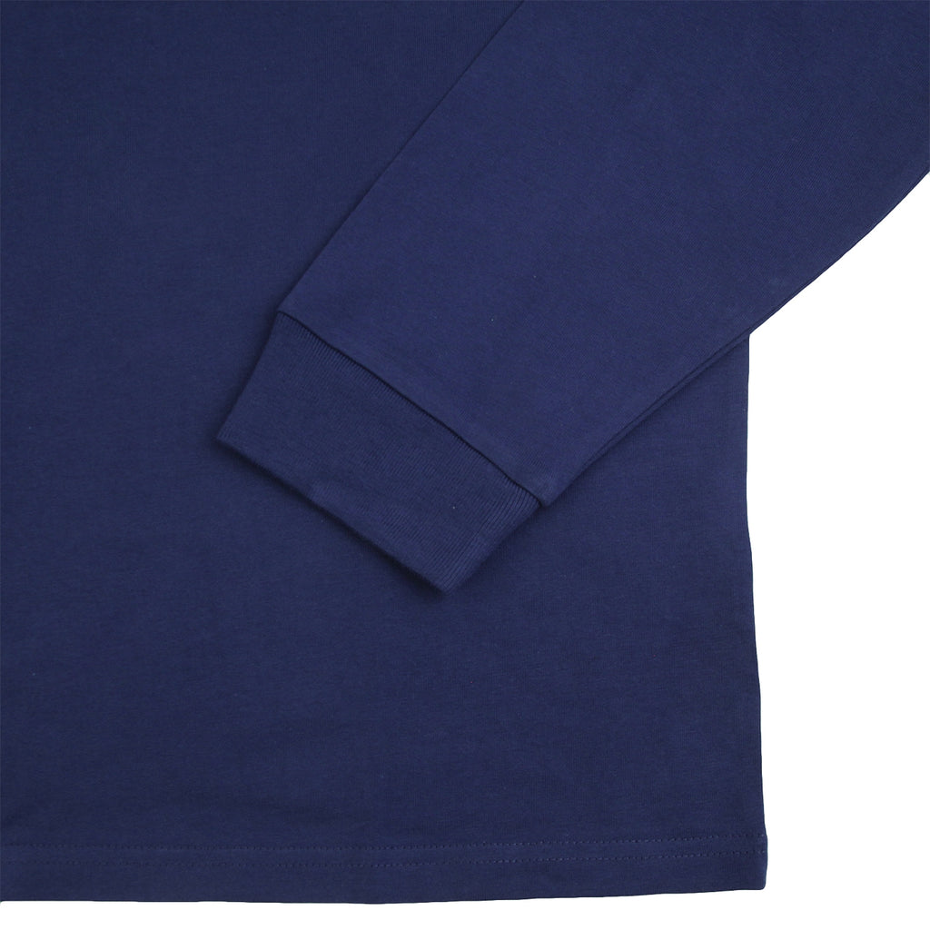 Carhartt L/S Chase T Shirt in Metro Blue / Gold - Cuff