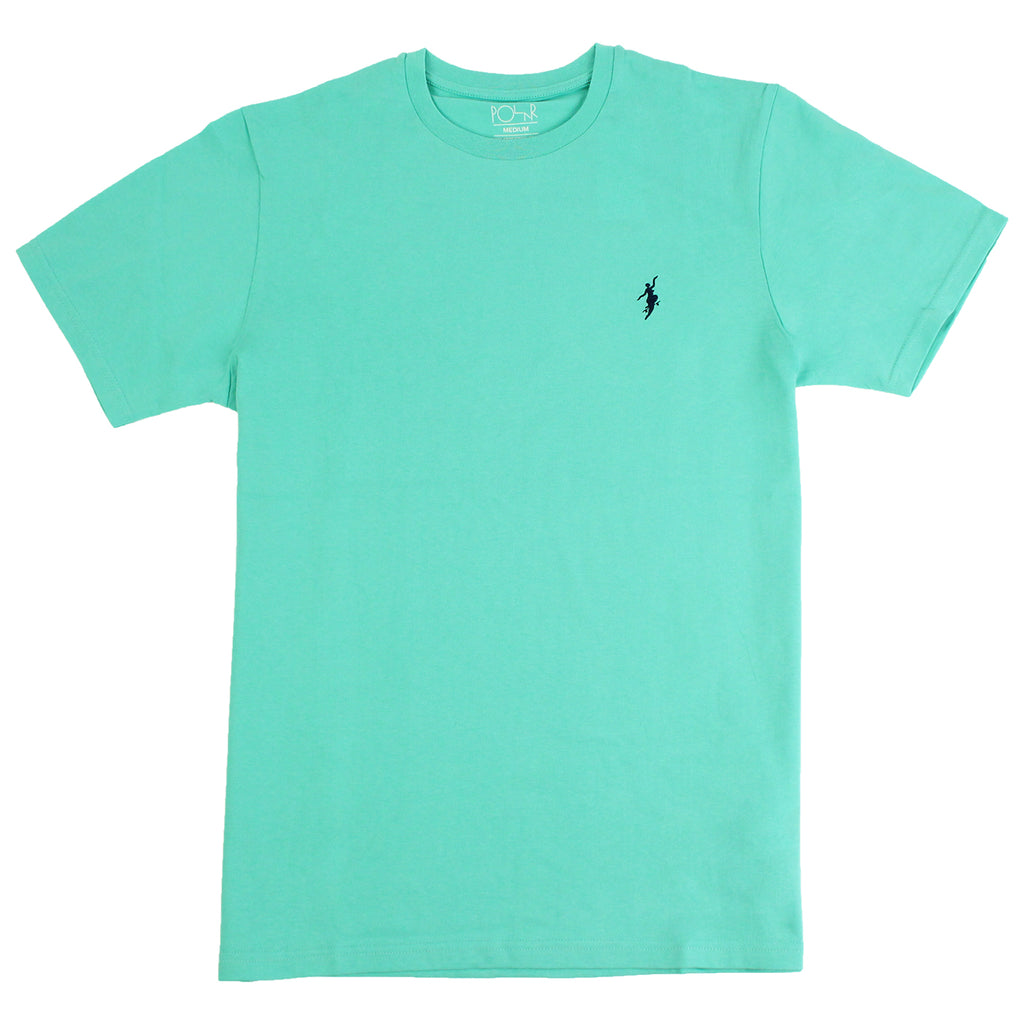 Polar Skate Co No Comply T Shirt in Pastel Green / Navy