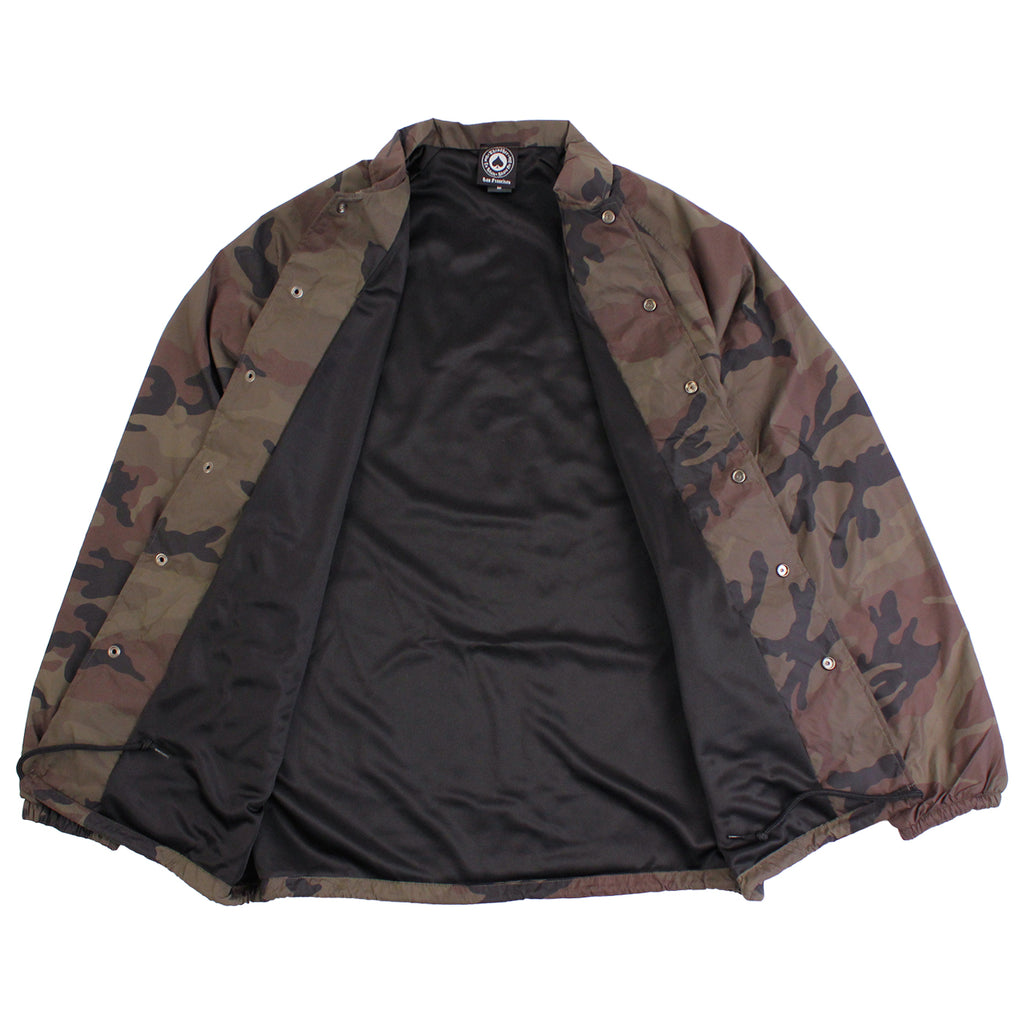 Thrasher Skategoat Coaches Jacket in Camo - Open