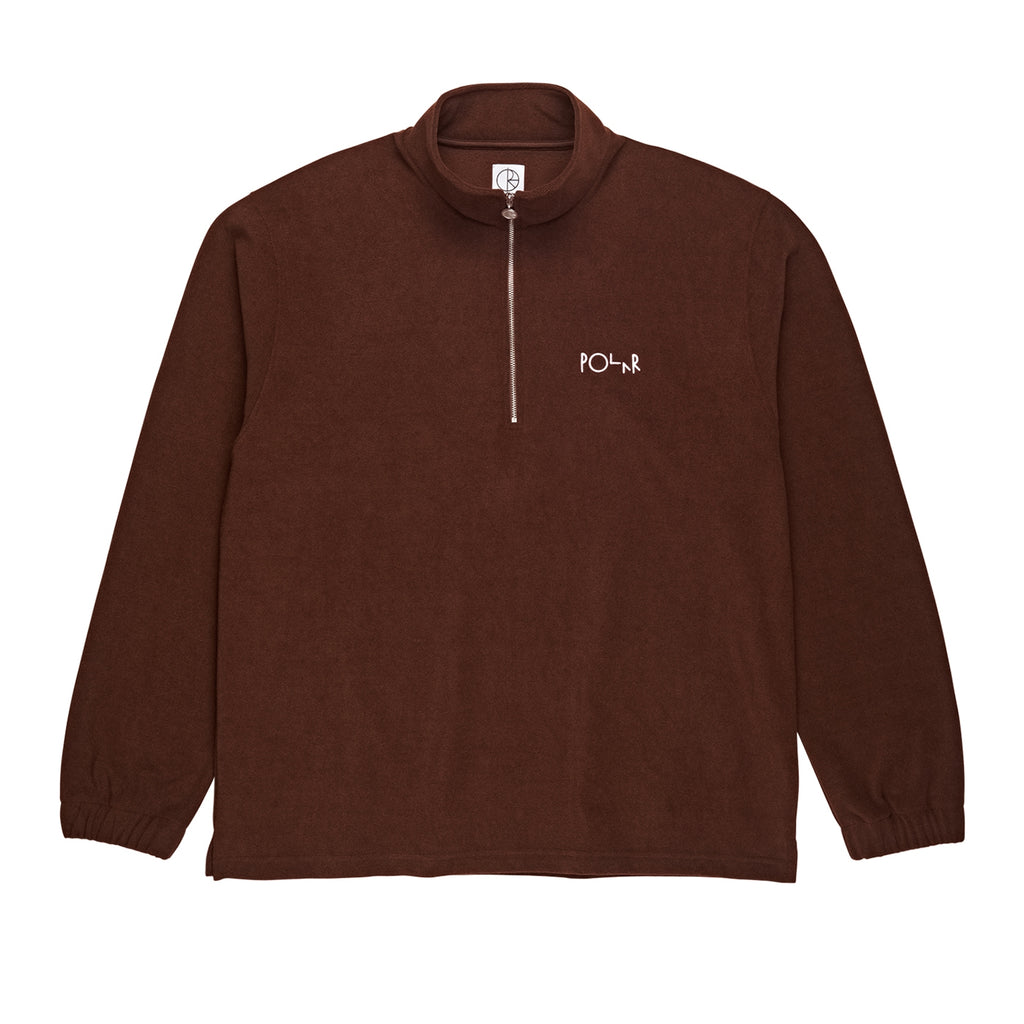 Polar Skate Co Terry Zip Mockneck in Brown