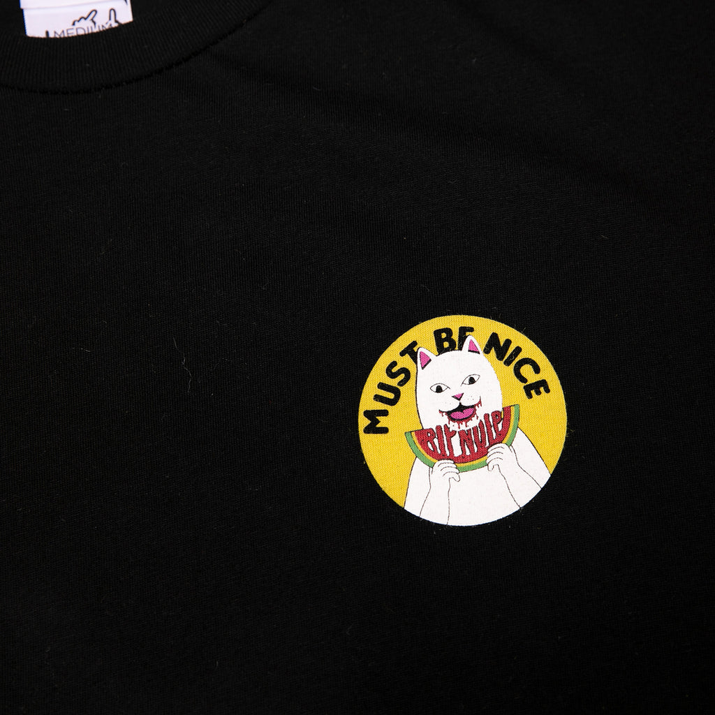 RIPNDIP Delicious T Shirt in Black - Chest detail