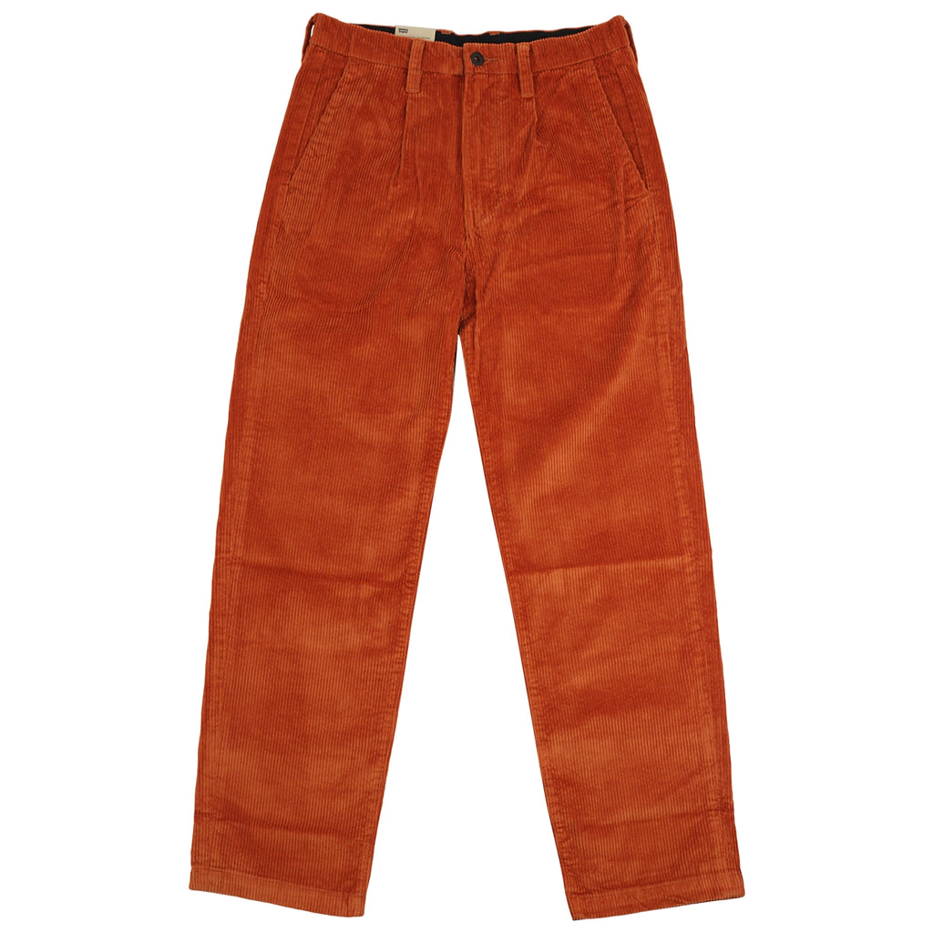 Levis Skateboarding Pleated Trousers in Bombay Brown - Front