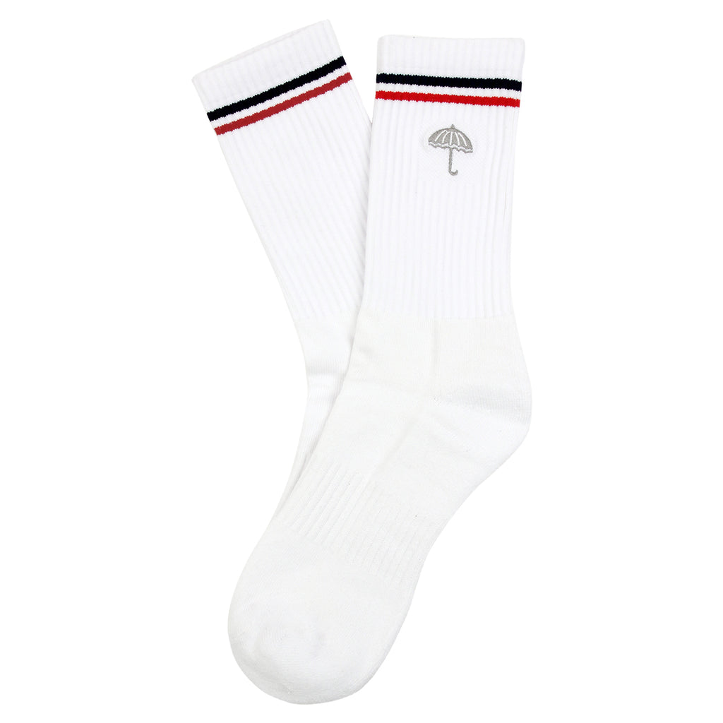 Helas Court Socks in White / Grey - Open