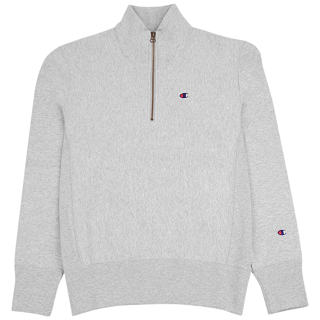 Champion Reverse Weave Half Zip Sweatshirt in Grey Melange