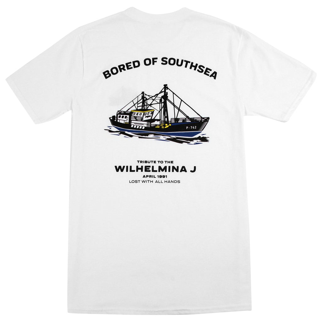 Bored of Southsea Wilhelmina J T Shirt in White