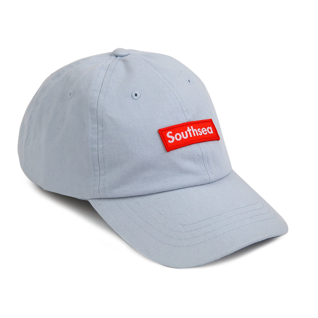 "Bored of Southsea ""Southsea"" 6 Panel Dad Cap in Pastel Blue"