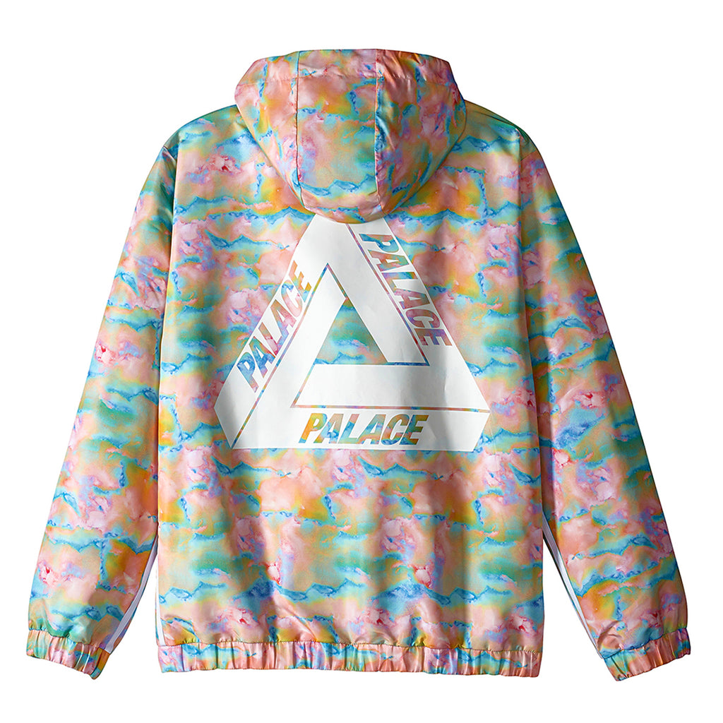 Palace x Adidas Hooded Bomber Jacket in Multi Colour / White