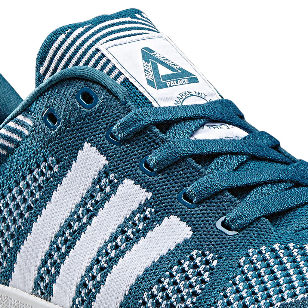 Palace x Adidas Palace Pro Primeknit Shoes in Surf Petrol / FTW White - Detail