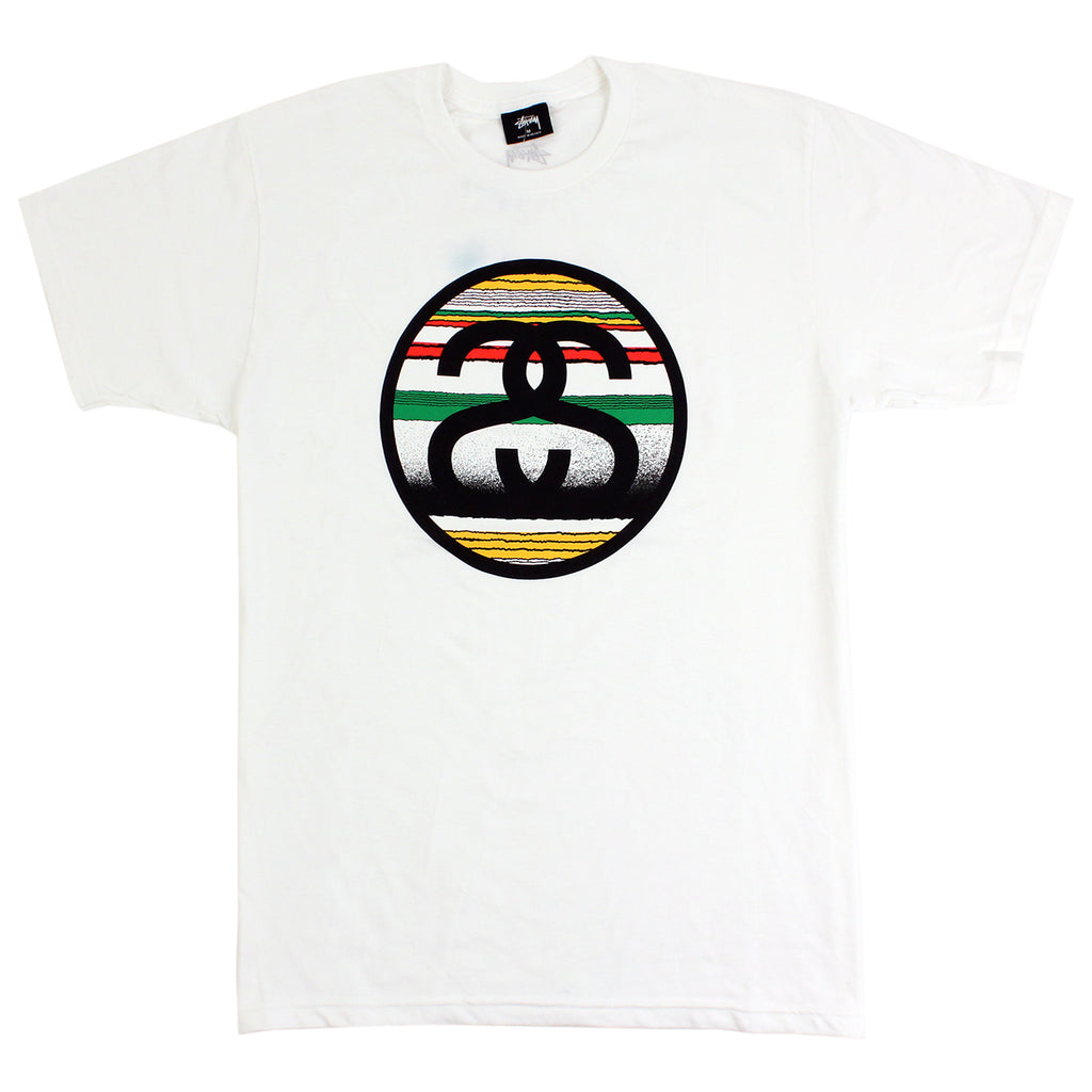 Stussy Tom Tom Link T Shirt in White