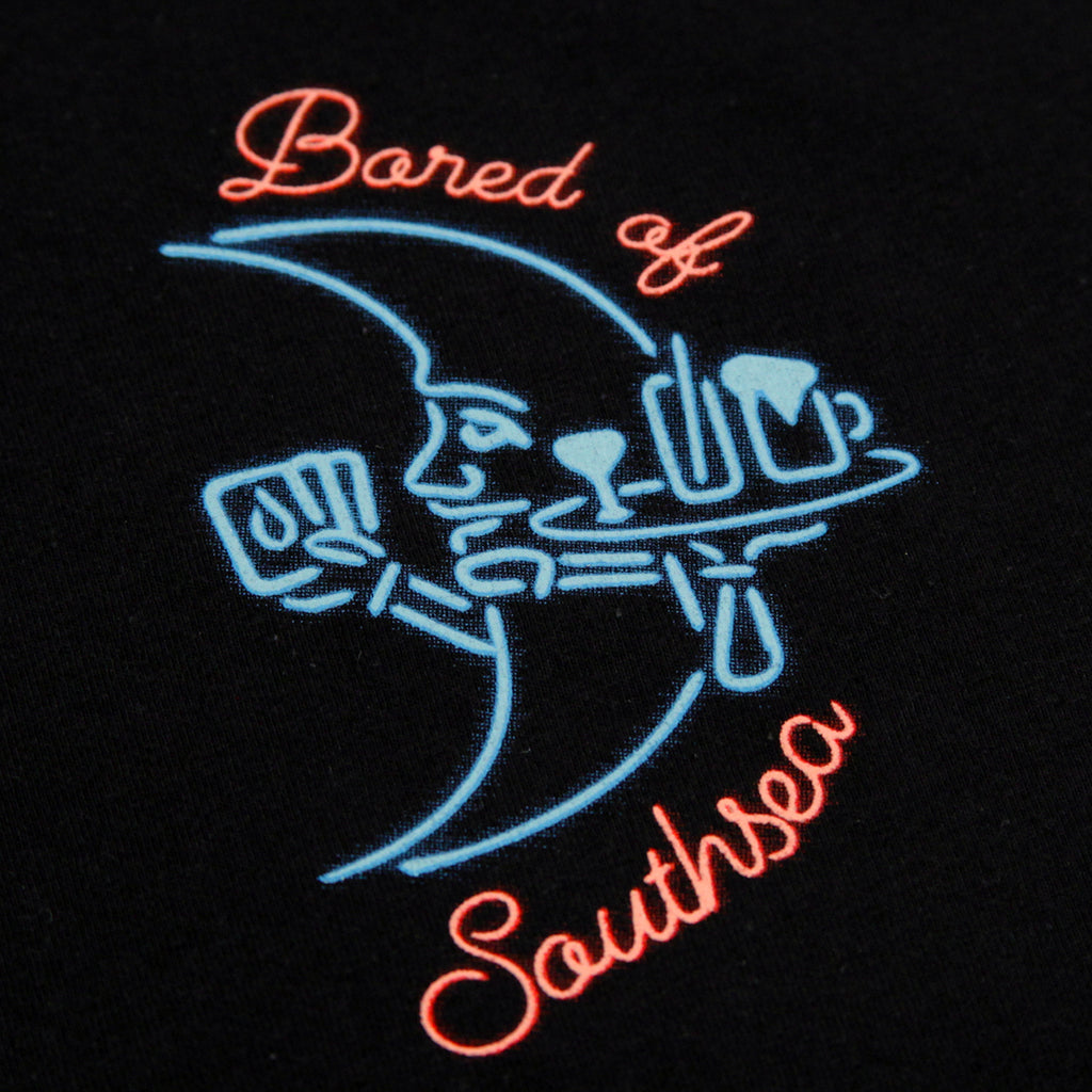 Bored of Southsea Gentlemen's Club L/S T Shirt in Black - Front detail