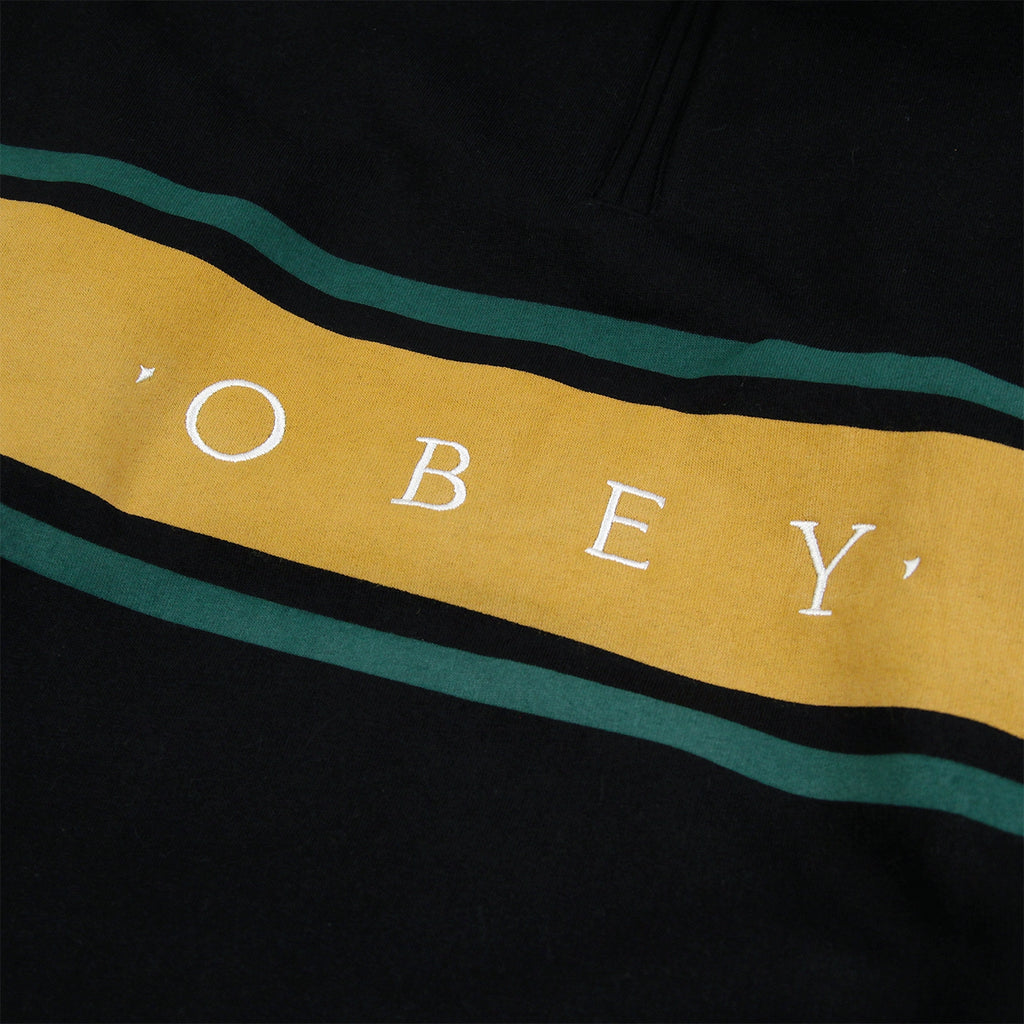 Obey Clothing Gaze Mock Neck Zip Sweatshirt in Black - Obey