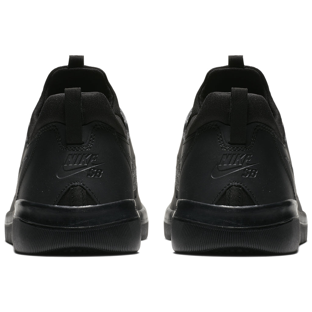 Nike SB Nyjah Free Shoes in Black / Black - Black - Heel