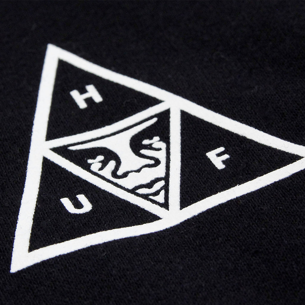 HUF x Obey Triple Triangle Hoodie in Black - Print