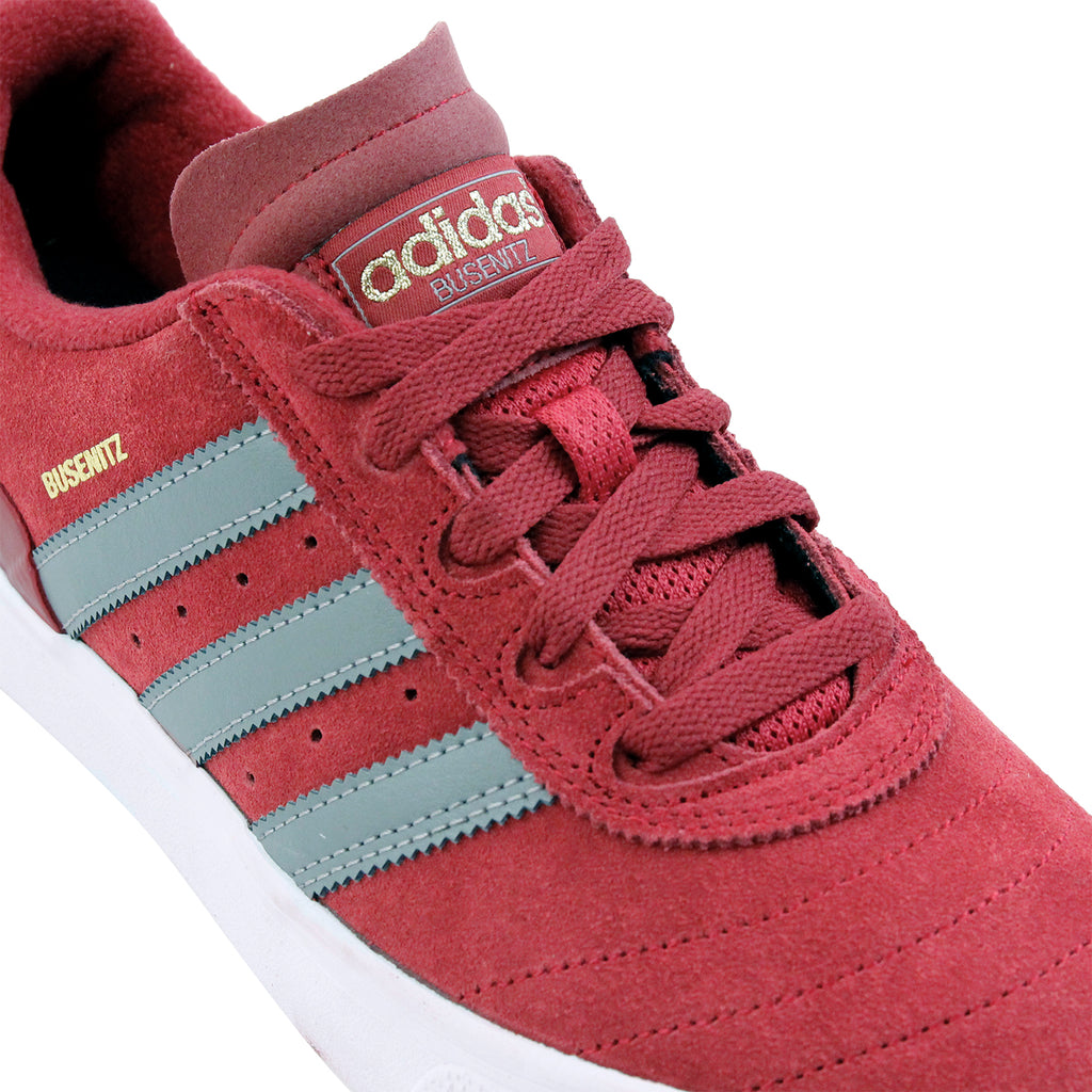 Adidas Skateboarding Busenitz Vulc Shoes in Collegiate Burgundy / CH Solid Grey / FTW White - Laces