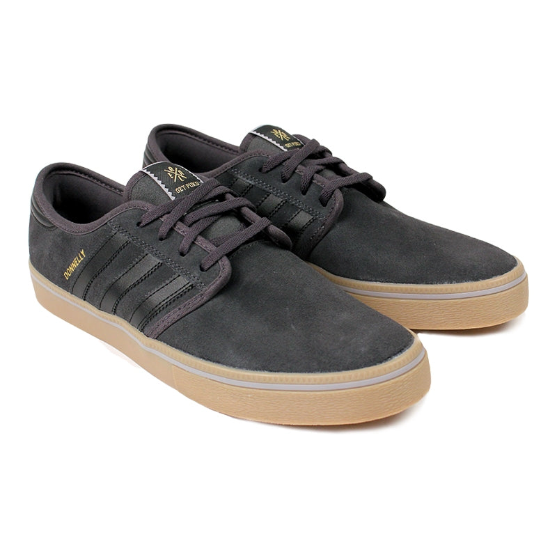 Adidas Skateboarding Seeley ADV 'Donnelly' Shoes in Dark Grey/Core Black/Gum