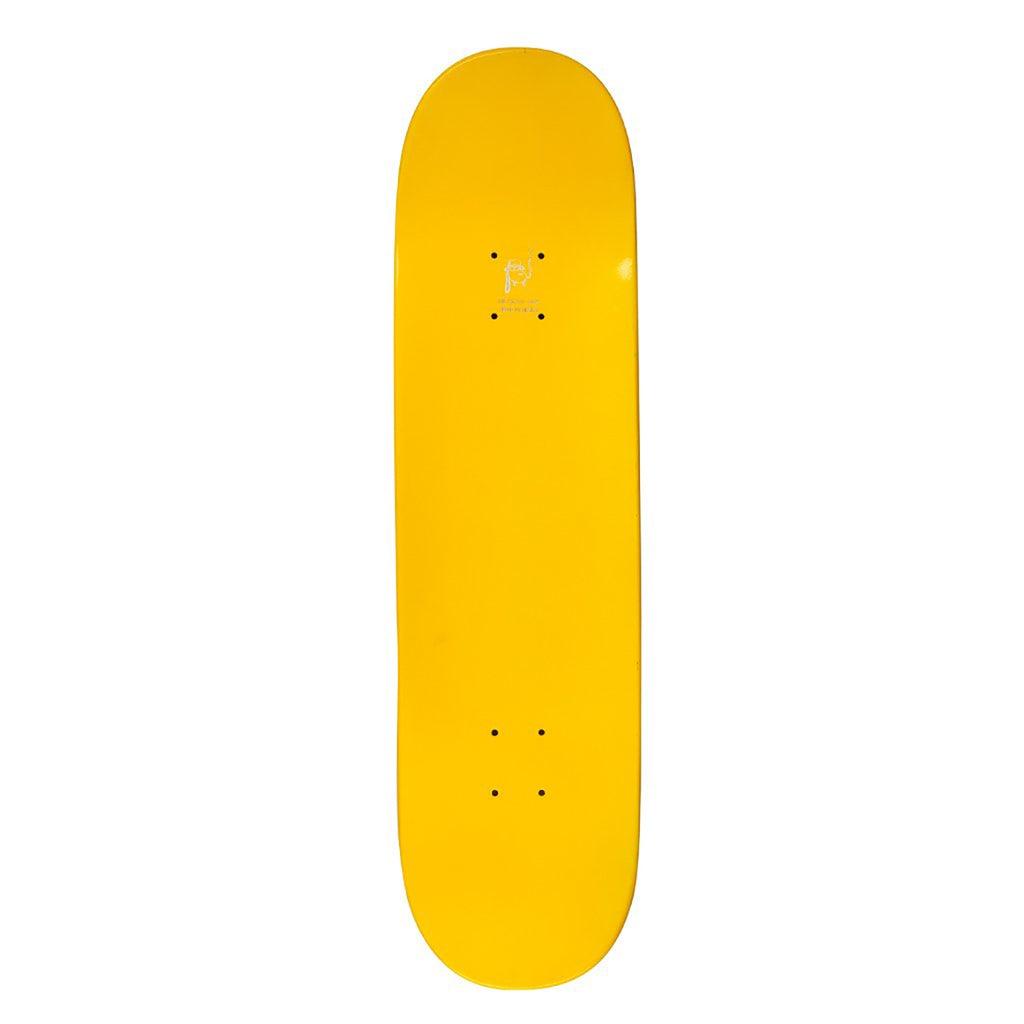 "Fucking Awesome AVE Class Photo Dipped Yellow Skateboard Deck in 8.38"" - Top"