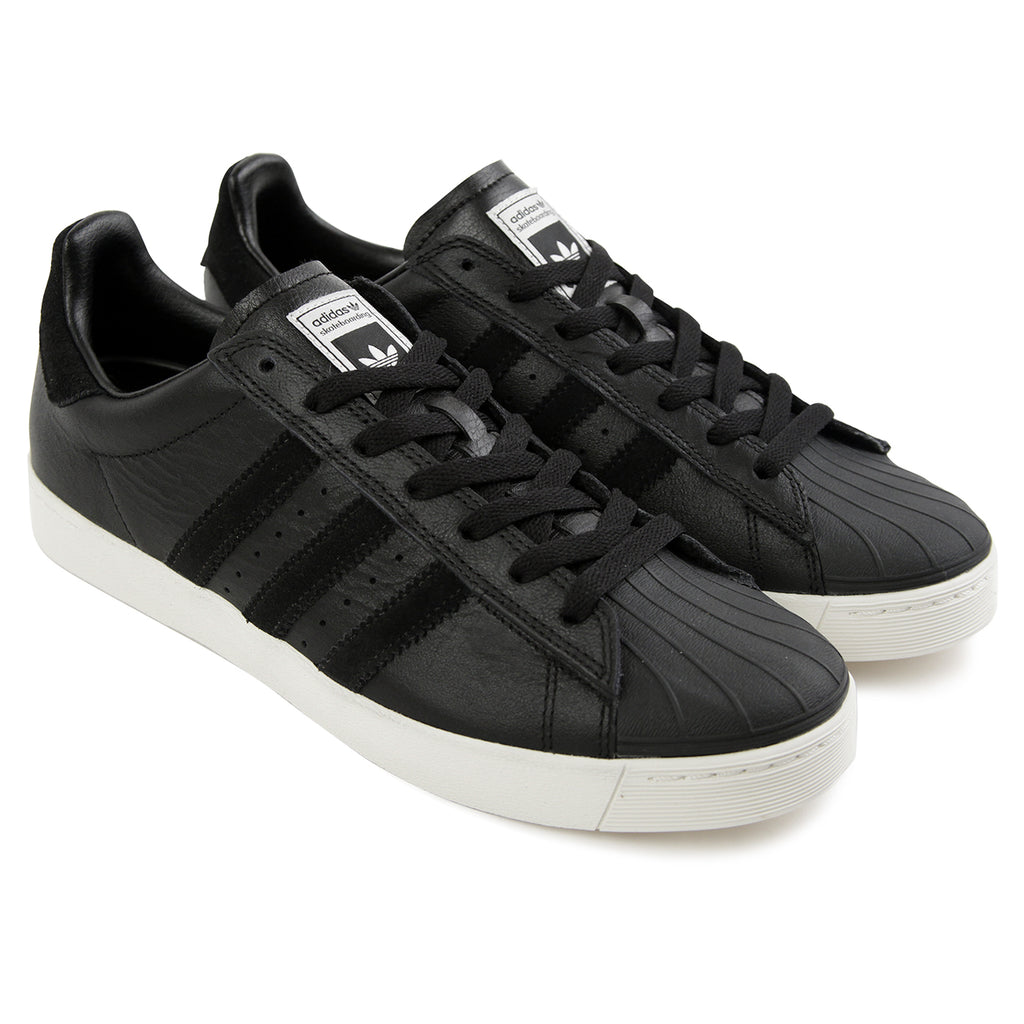 Adidas Skateboarding Superstar Vulc ADV Shoes in Core Black / Core Black / White - Pair
