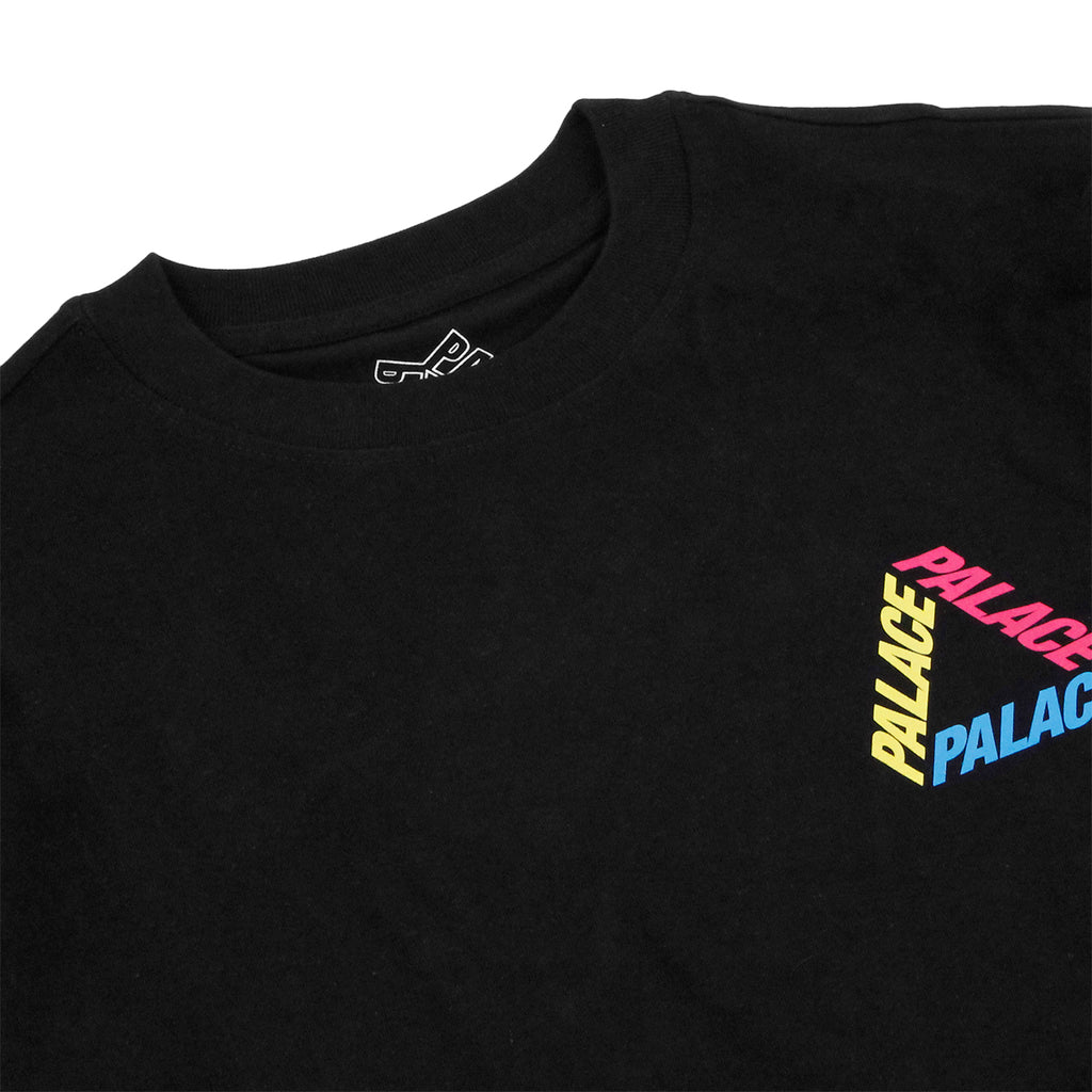 Palace P 3 L/S T Shirt in Black / Multi - Detail