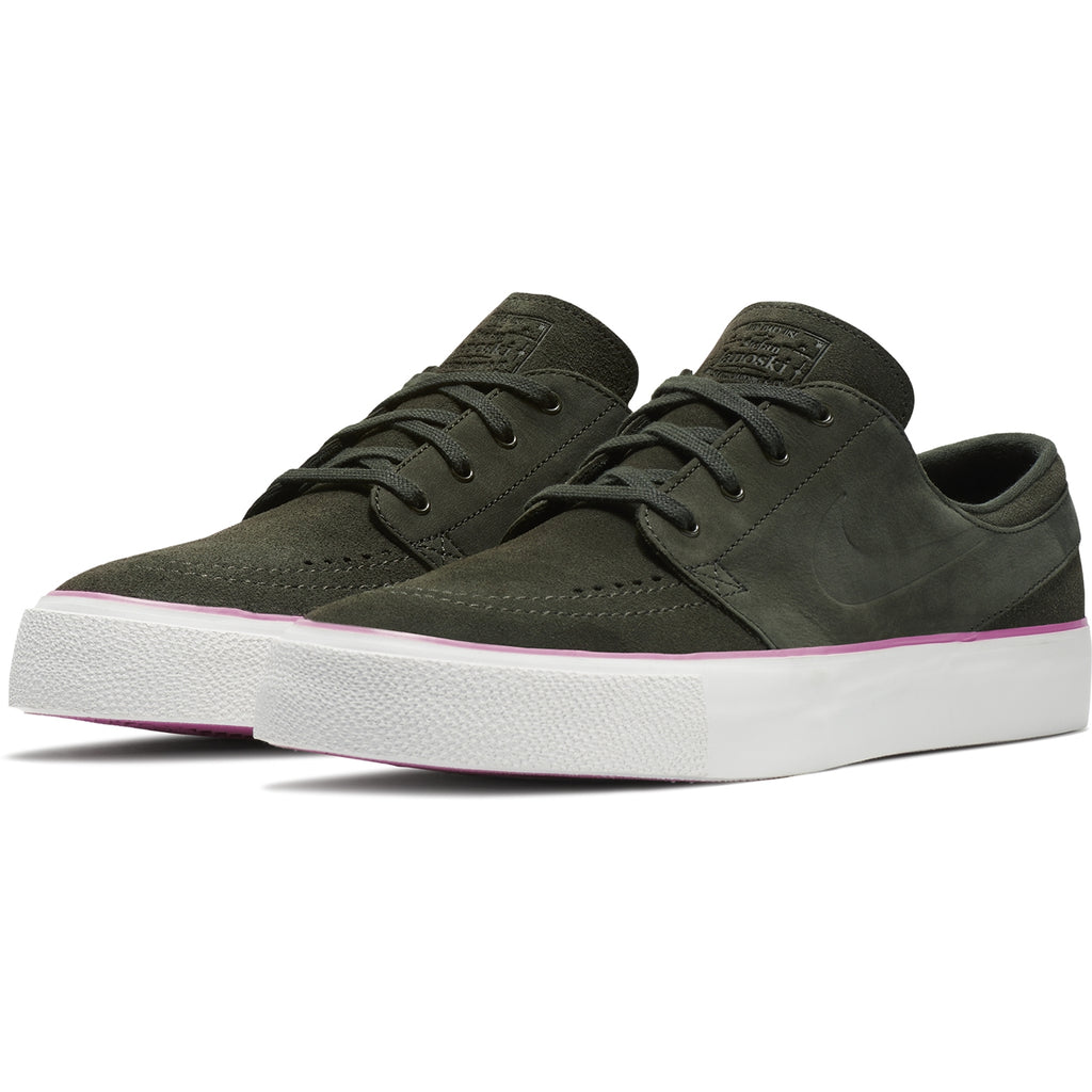 Nike SB Stefan Janoski HT Shoes in Sequoia / Sequoia - Elemental Pink - Pair