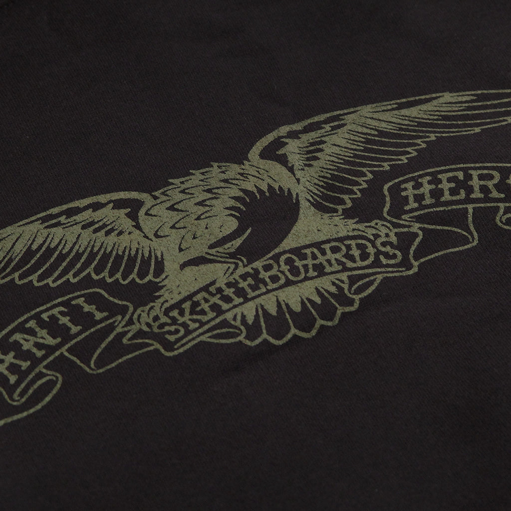 Anti Hero Skateboards Basic Eagle Hoodie in Black / Army Print - Print