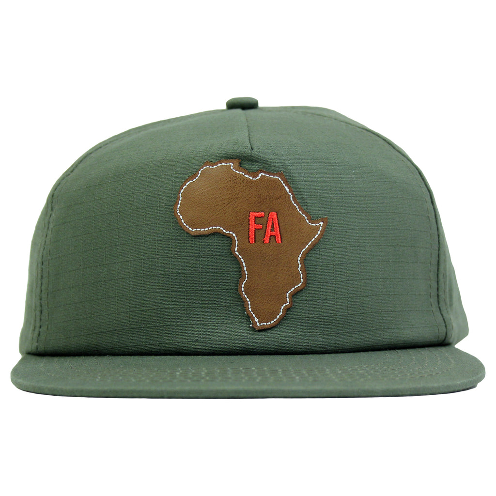 Fucking Awesome Africa Cap in Army - Front