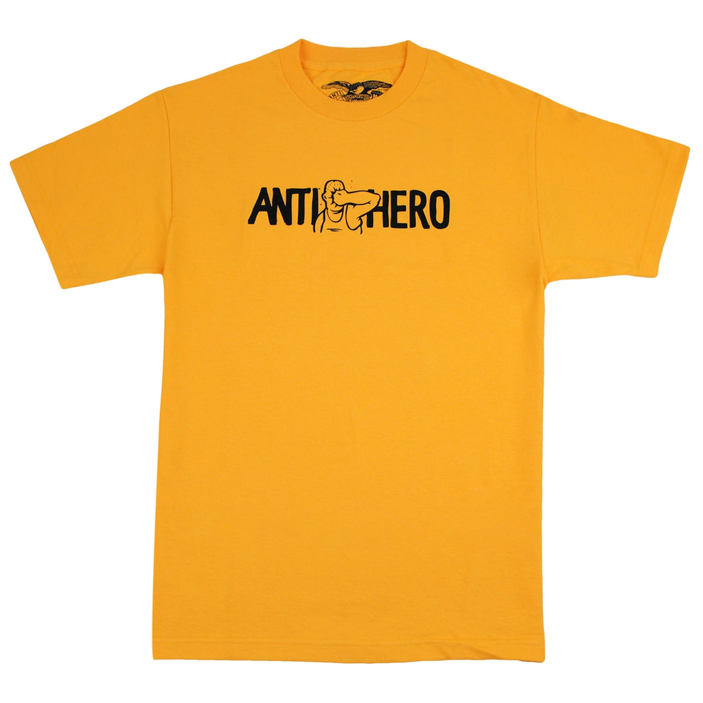 Anti Hero Skateboards Face Punch T Shirt in Gold