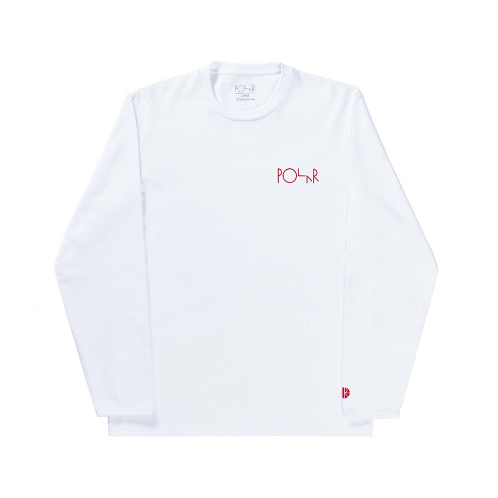 Polar Skate Co Halberg L/S T Shirt in White
