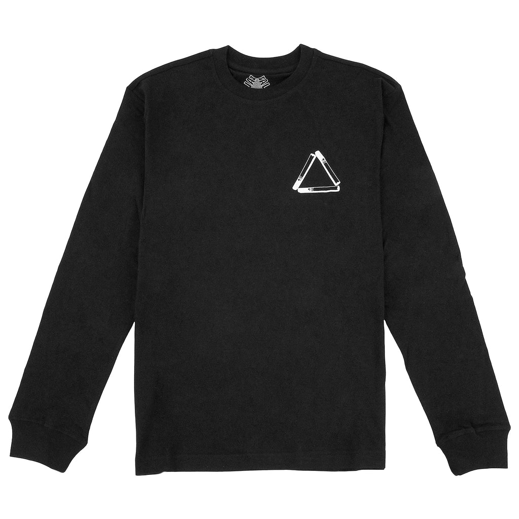 Palace Tri Smoke L/S T Shirt in Black