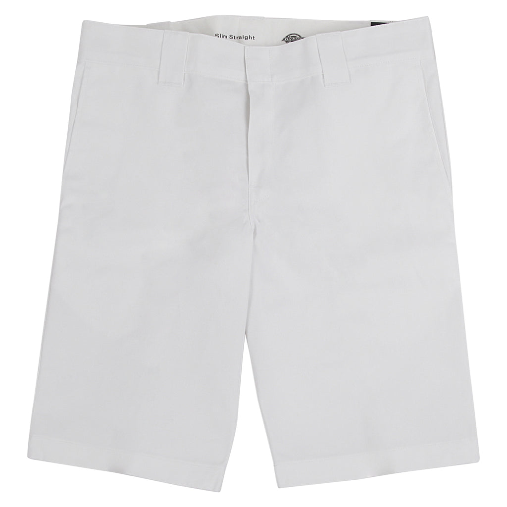 Dickies 273 Slim Fit Work Shorts in White
