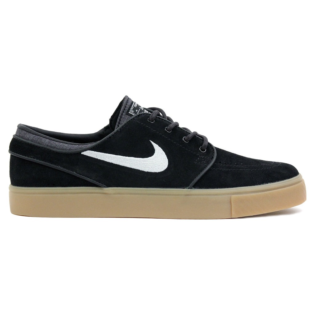 Nike SB Zoom Stefan Janoski Shoes in Black / White-Gum / Light Brown
