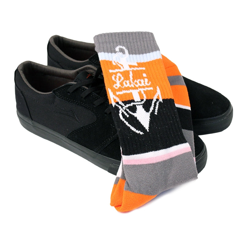 Lakai Fura Anchor in Black / Black Suede - Socks