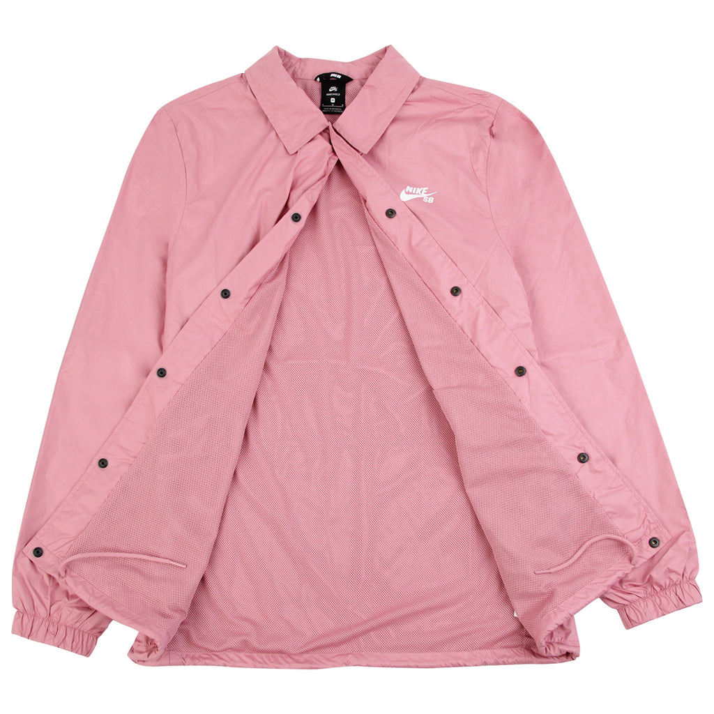 Nike SB Shield Coach Jacket in Elemental Pink / White - Open