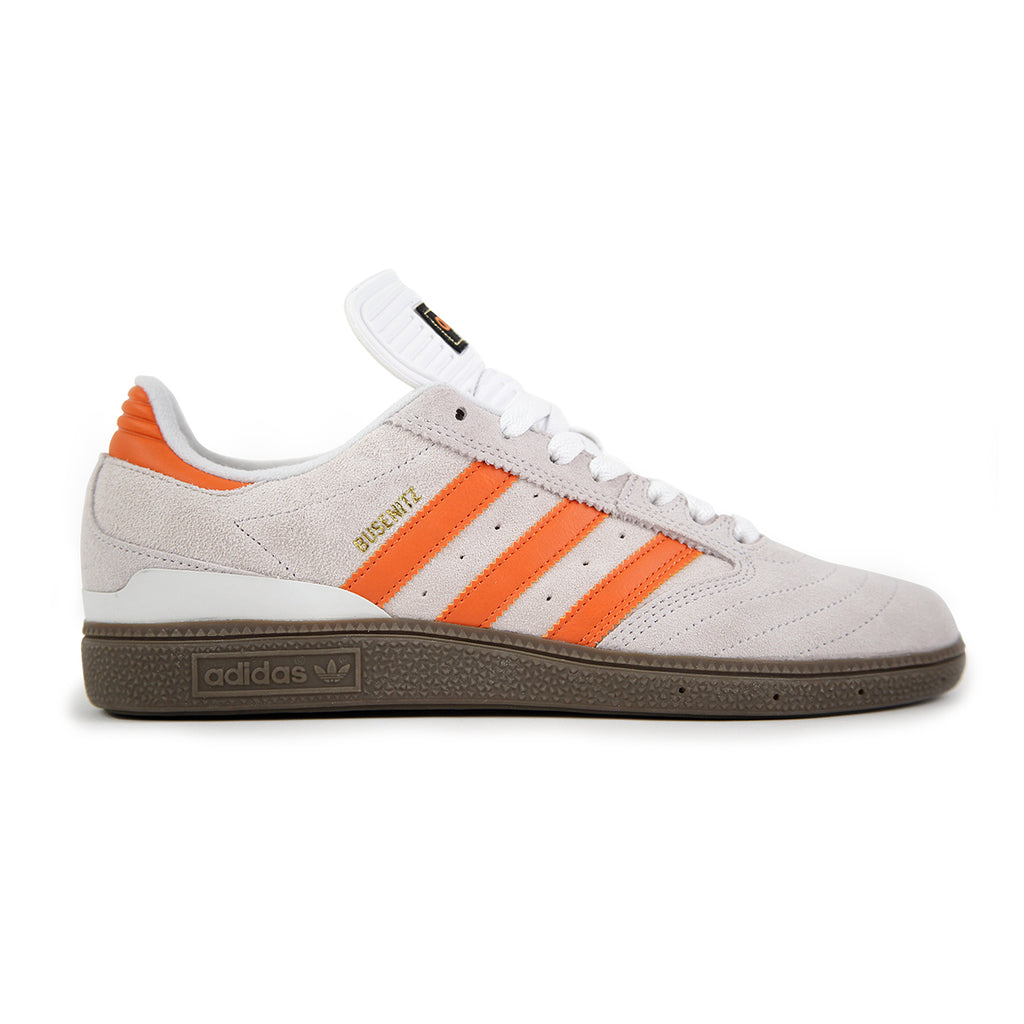 huge discount 2d532 74276 Adidas Skateboarding Busenitz Shoes in Crystal White  Craft Orange  Gum