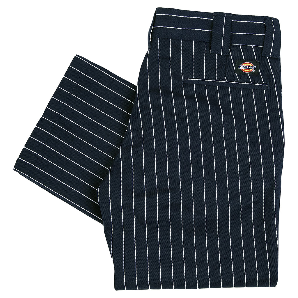 Dickies 873 Slim Straight Work Pant in Stripe / Dark Blue
