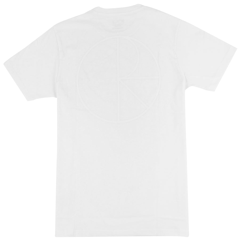 Polar Skate Co Stroke Logo T Shirt in White / White