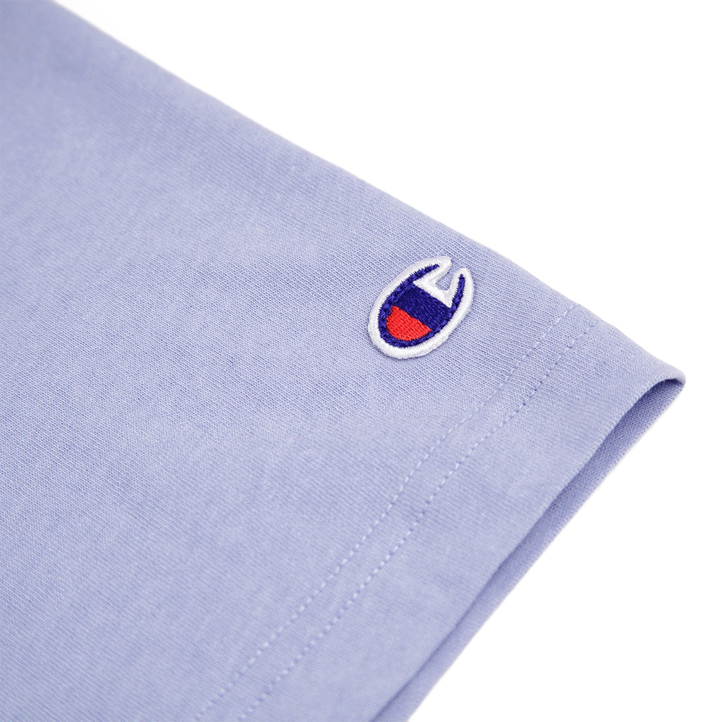 Champion Reverse Weave Script Logo T Shirt in Lilac - Pacth