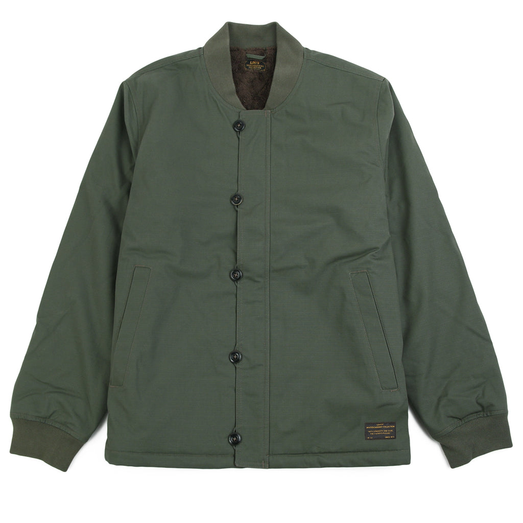 Levis Skateboarding Skate Pile Jacket in Olive Night