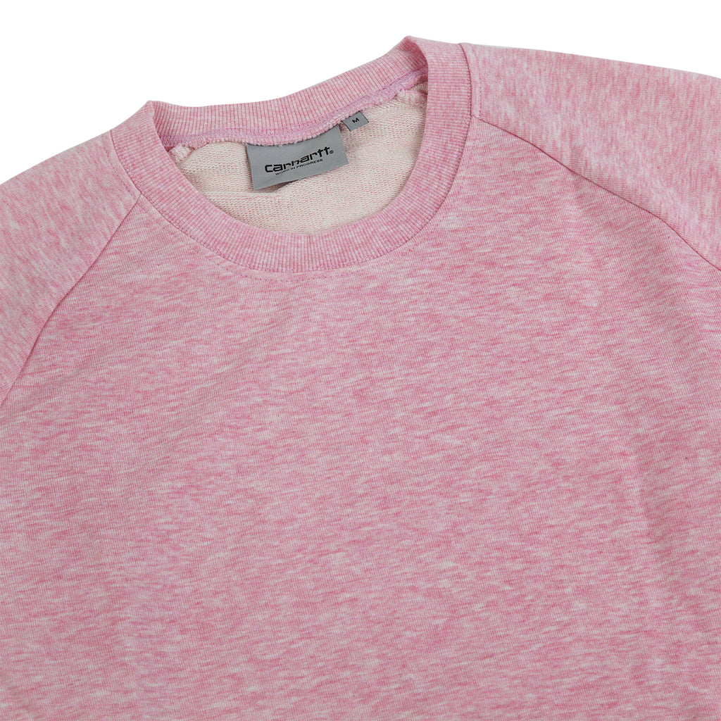 Carhartt Holbrook LT Sweatshirt in Vegas Pink Heather - Detail