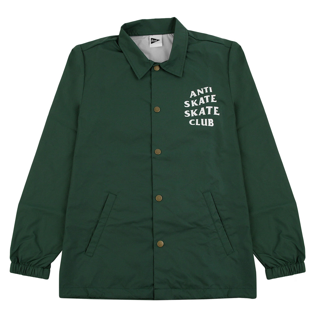 Bored of Southsea Anti Skate Club Coaches Jacket in Forest Green