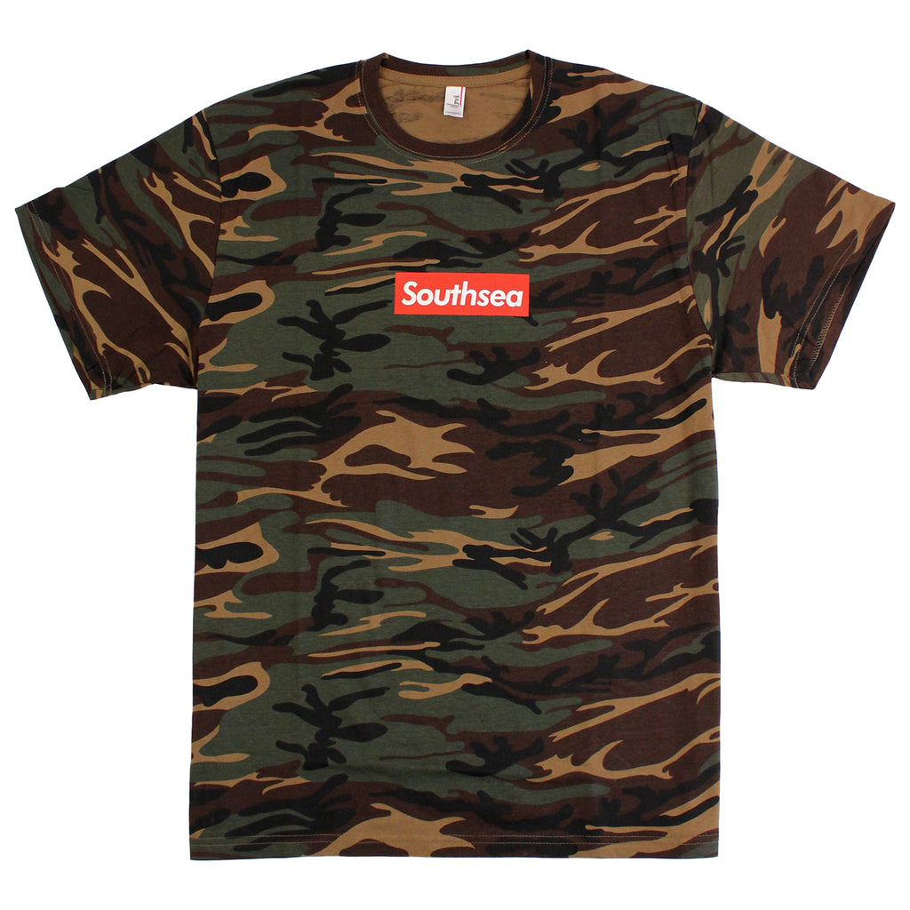 "Bored of Southsea ""Southsea"" T Shirt in Camouflage / Red Box"