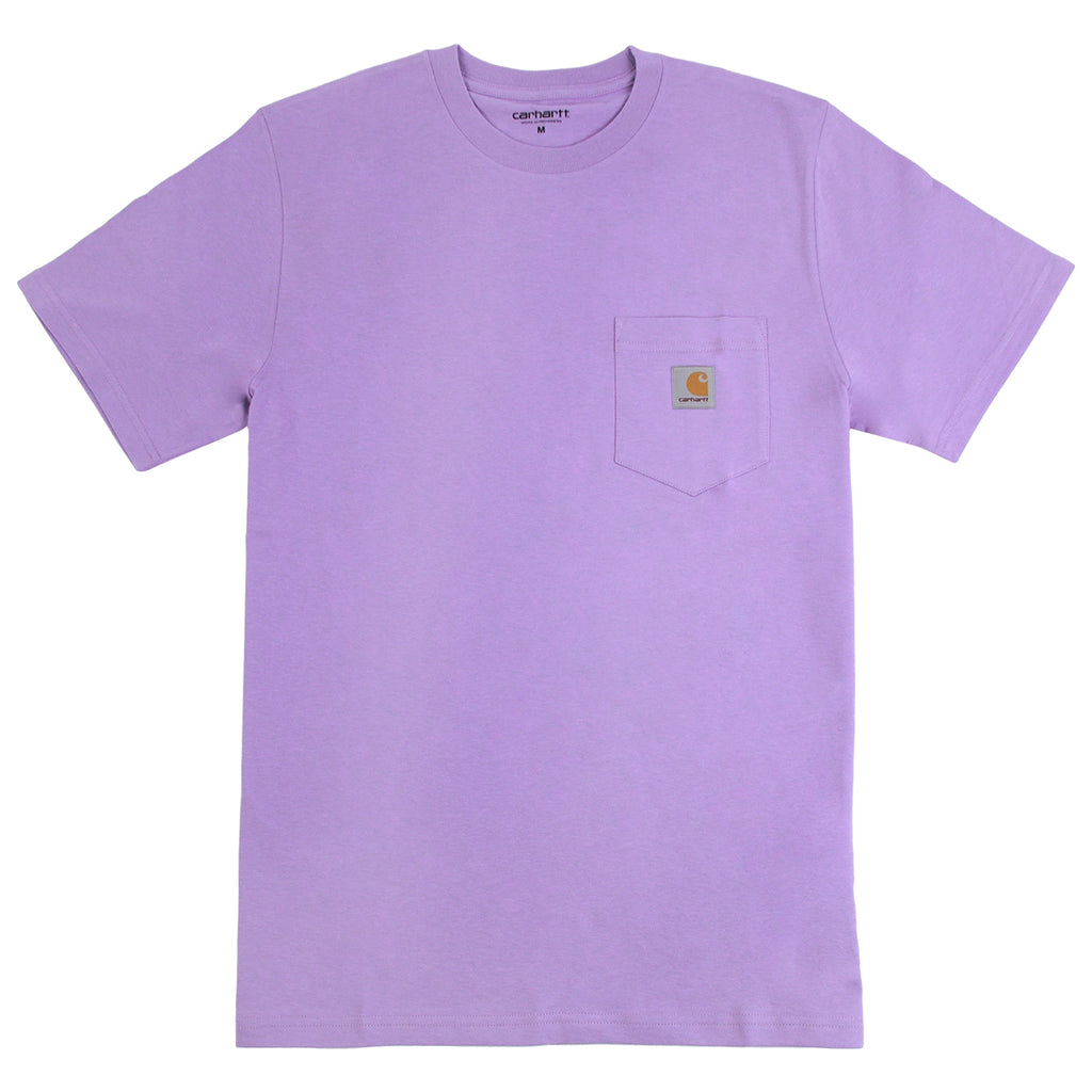 Carhartt Pocket T Shirt in Soft Purple